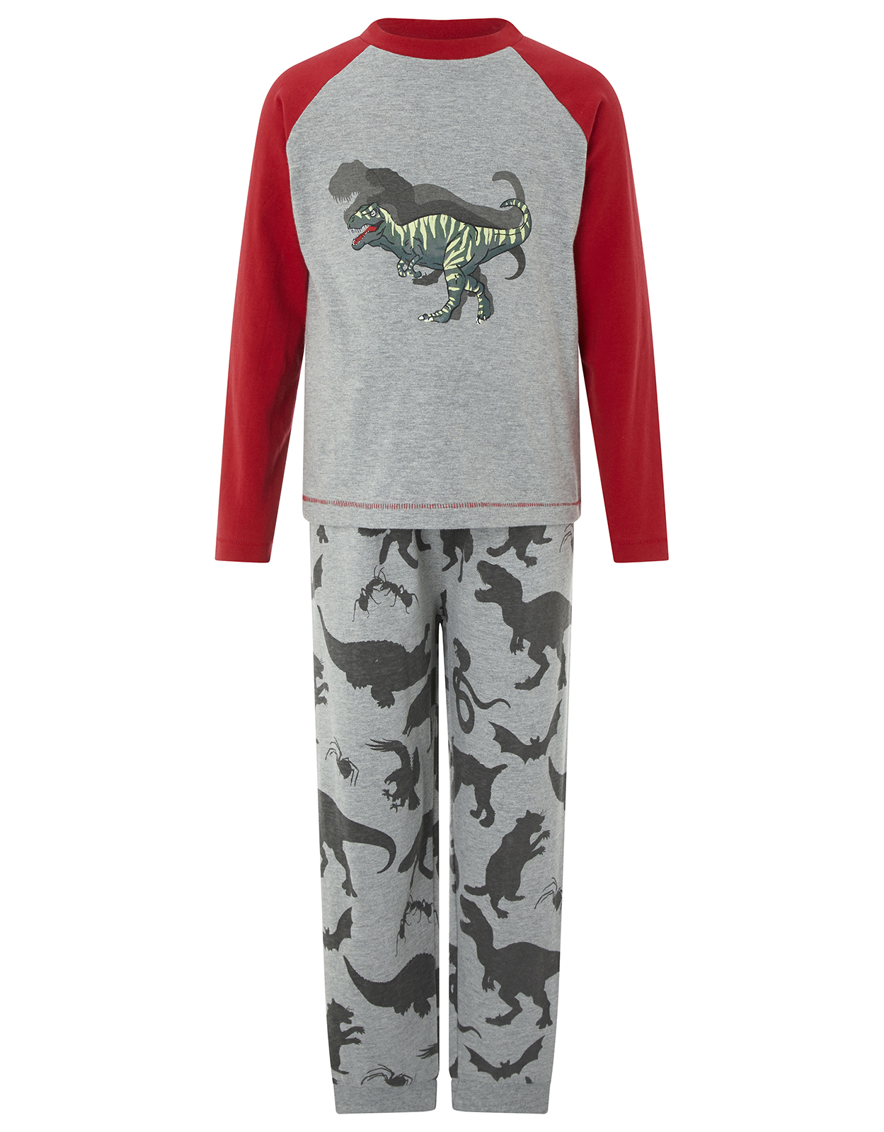 Monsoon Dixon Dino Glow in the Dark Jersey Pyjama Set
