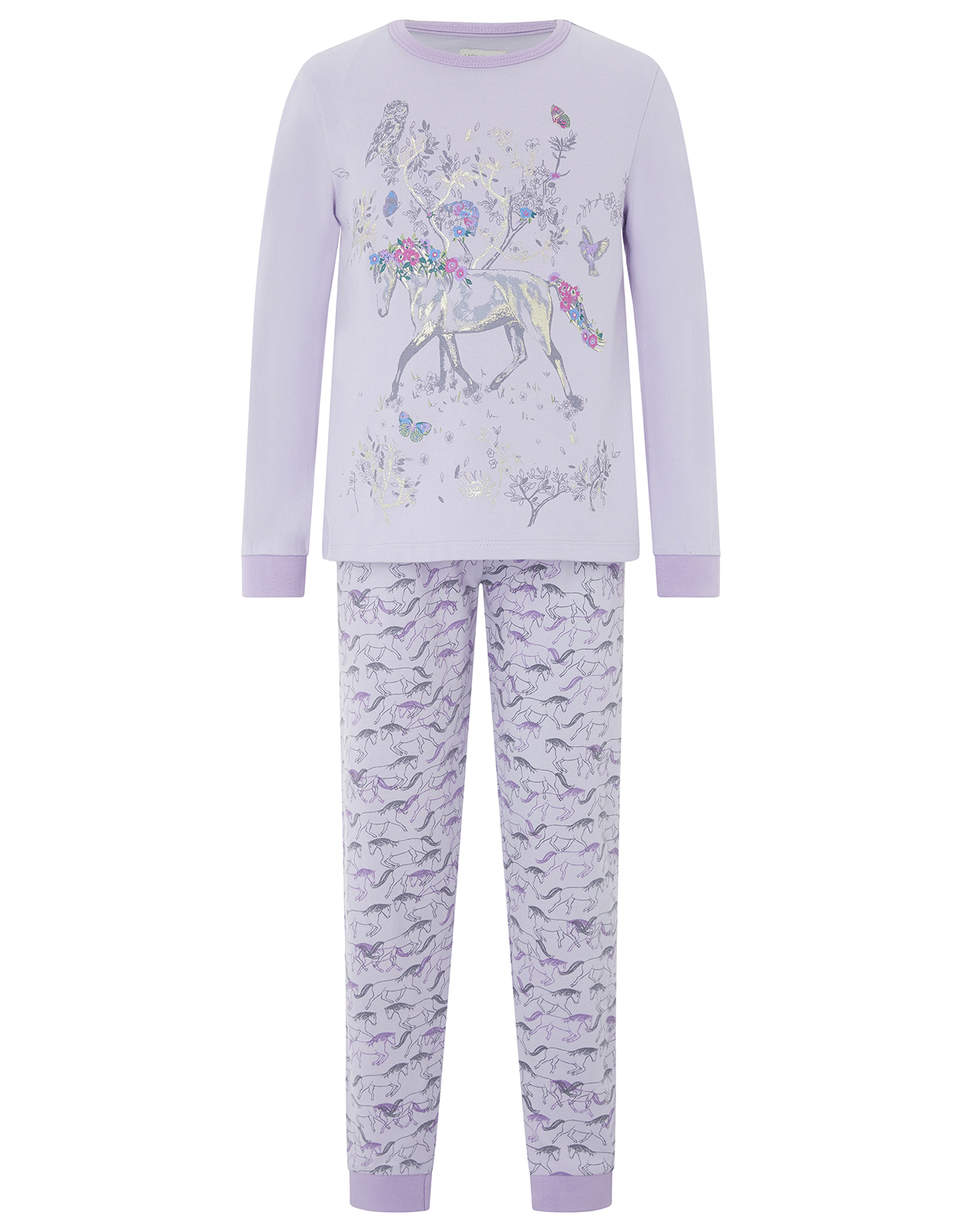 Monsoon Hannah Horse Jersey Pyjama Set