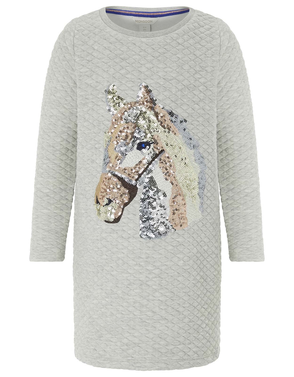 Monsoon Holly Horse Quilted Sweat Dress