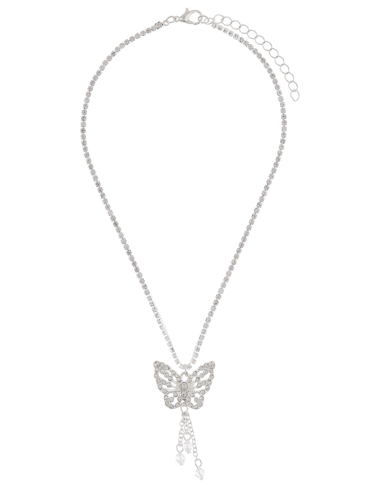Monsoon Diamante Butterfly Necklace