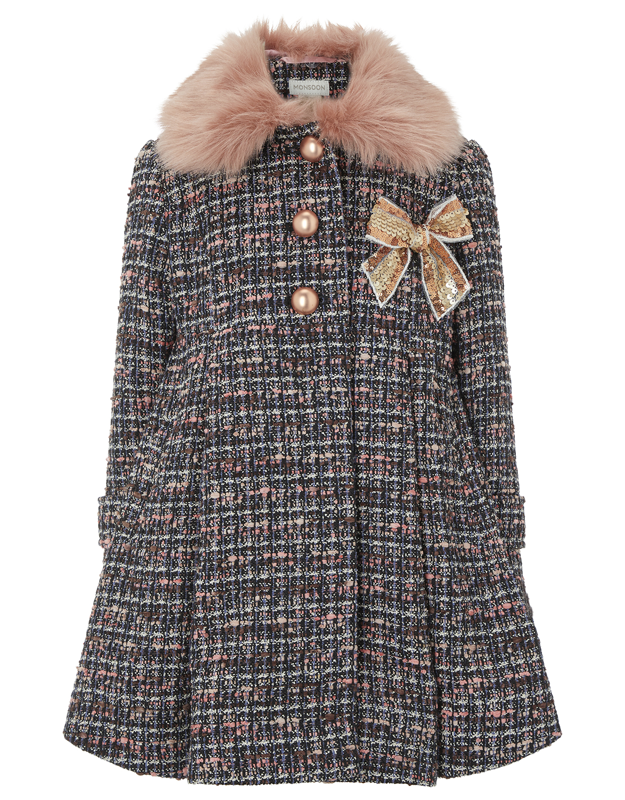 Monsoon Mila Tweed Coat