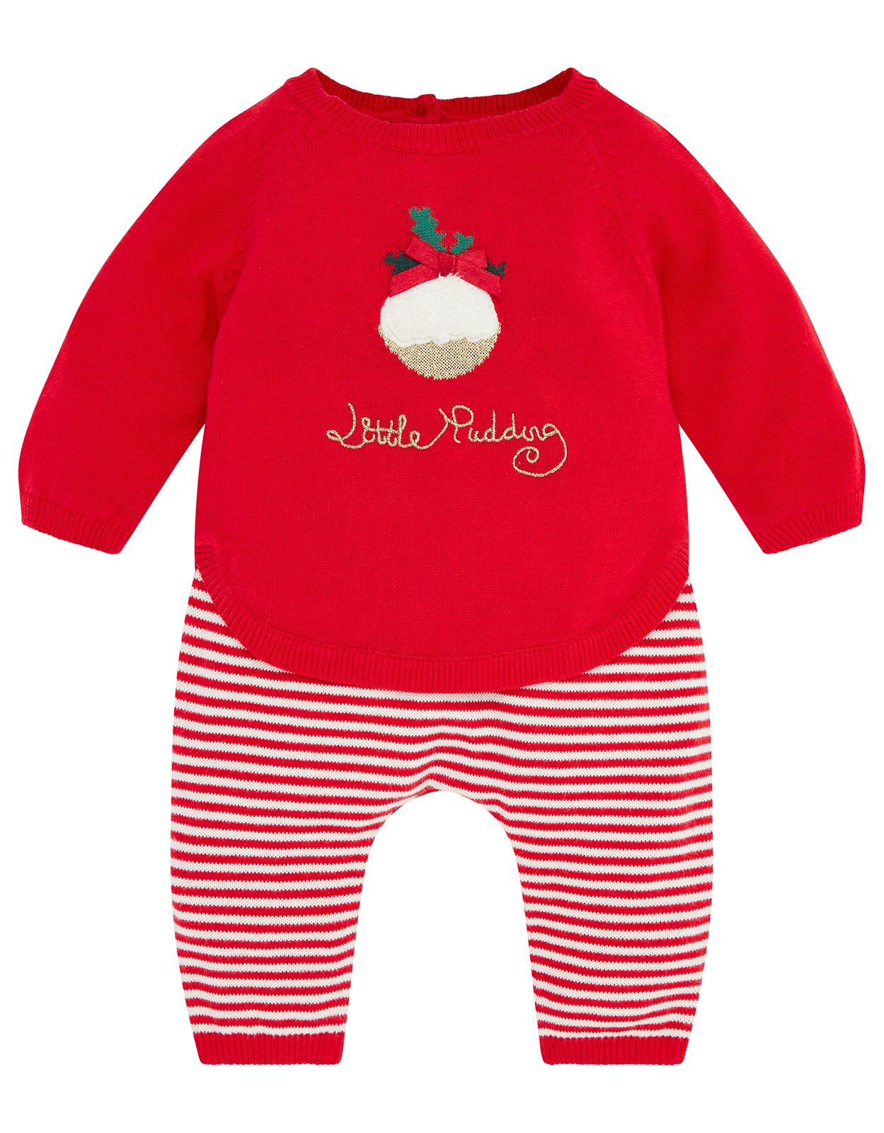 Monsoon NB Baby Little Pudding Knit Set