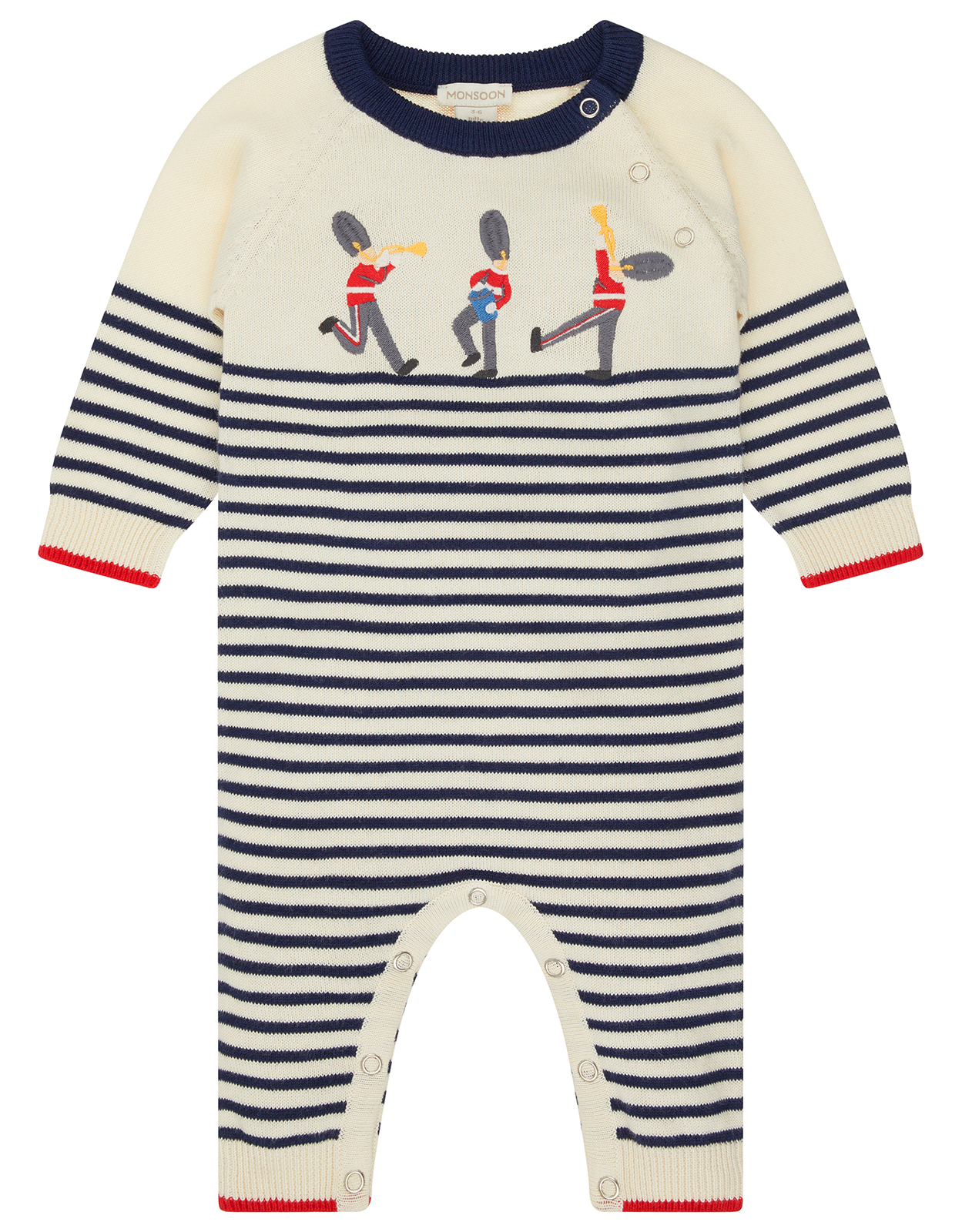 Monsoon Newborn Baby Lucas Guard Knitted Sleepsuit