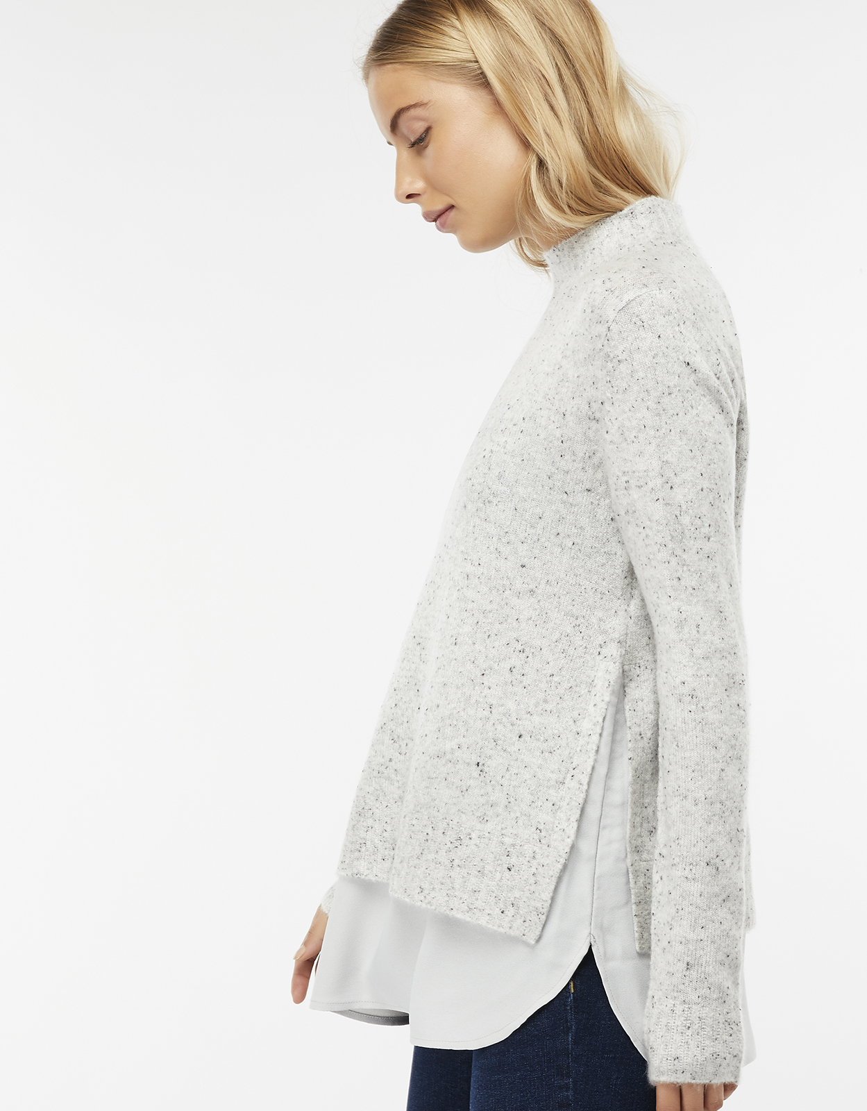 Monsoon Perrie Nep Woven Mix Jumper