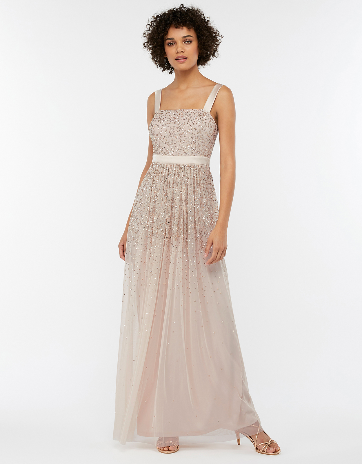 Monsoon Leila Embellished Tulle Maxi Bridesmaid Dress