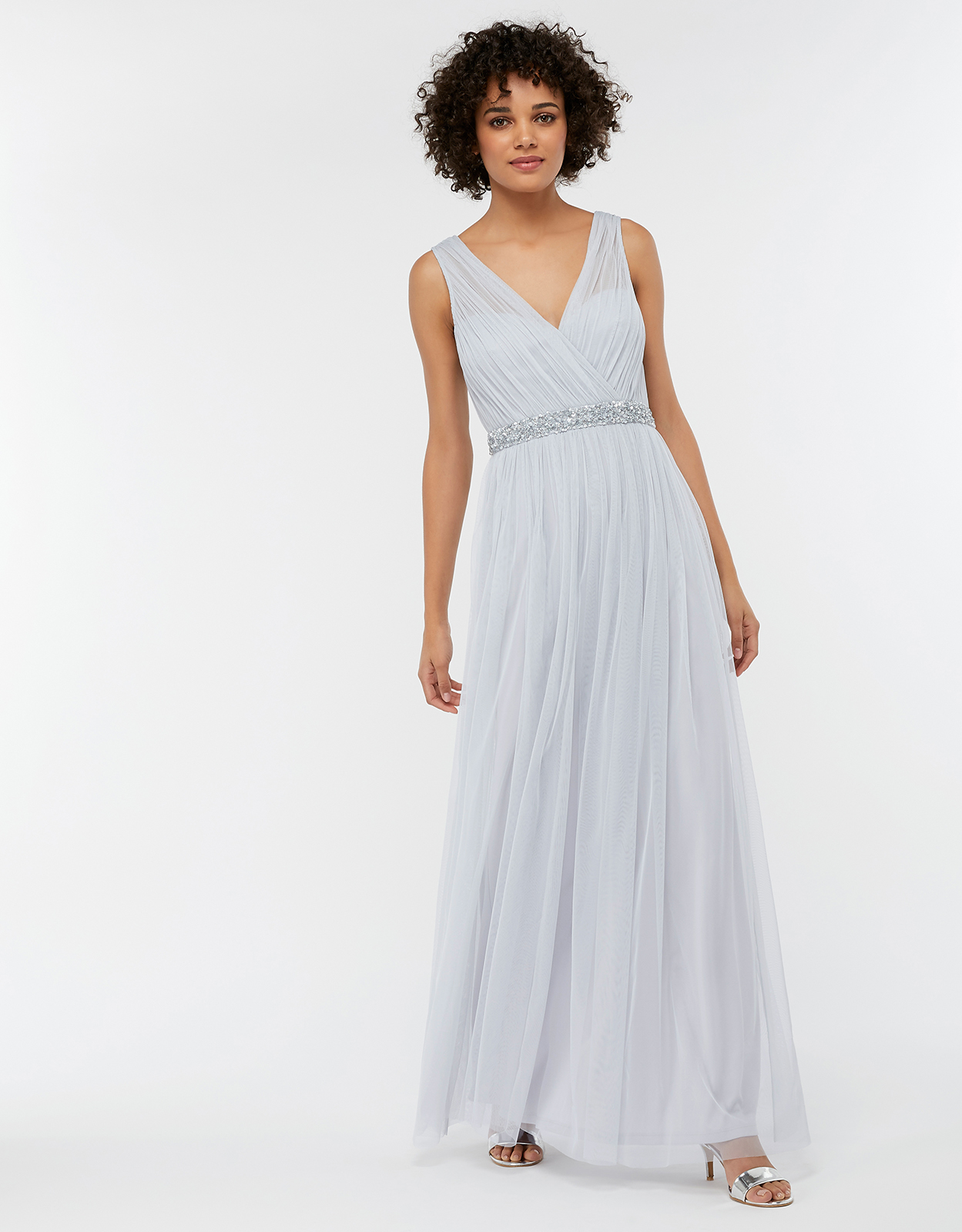 Monsoon Elyse Embellished Tulle Maxi Bridesmaid Dress