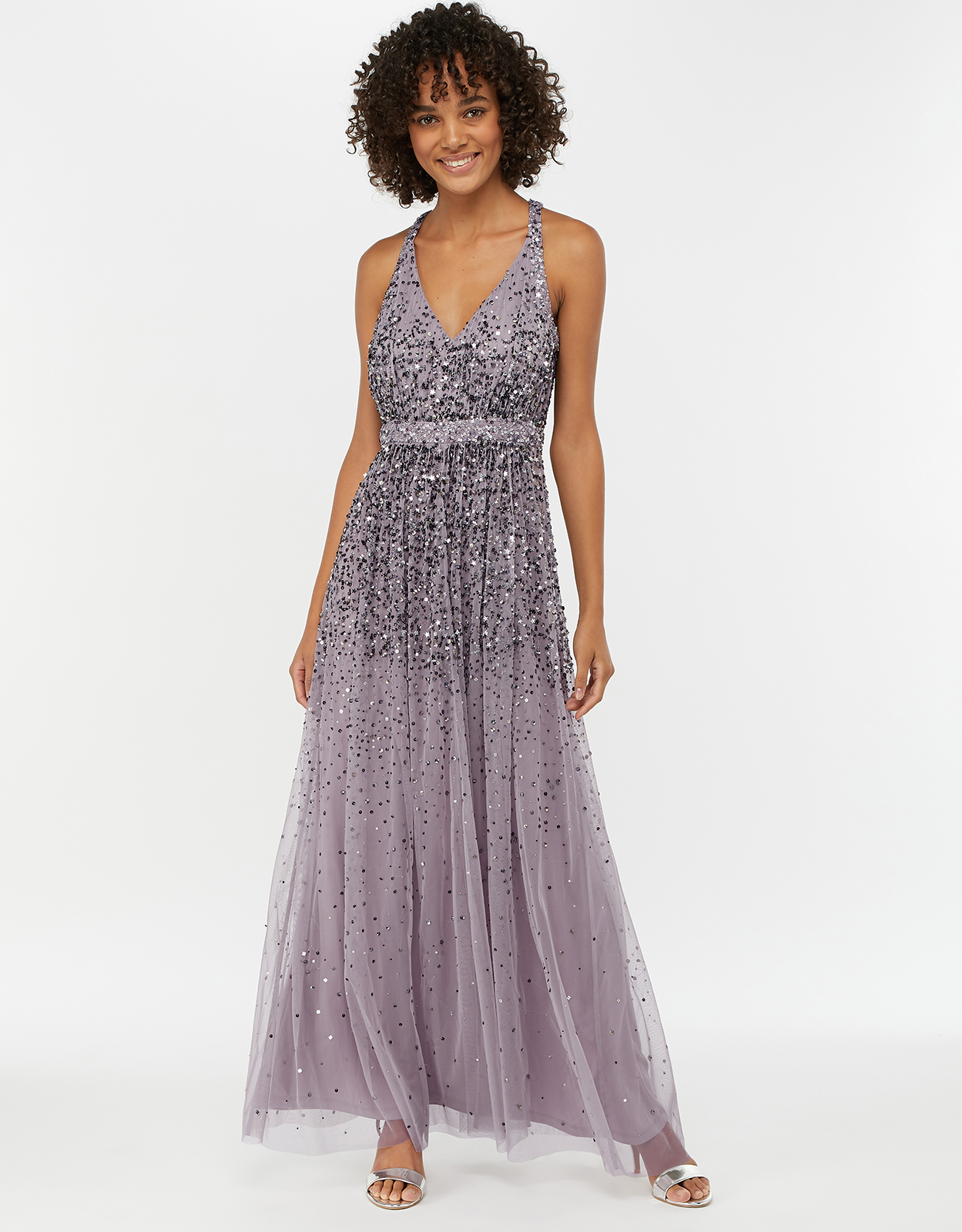 Monsoon Cyndi Star Embellished Maxi Dress