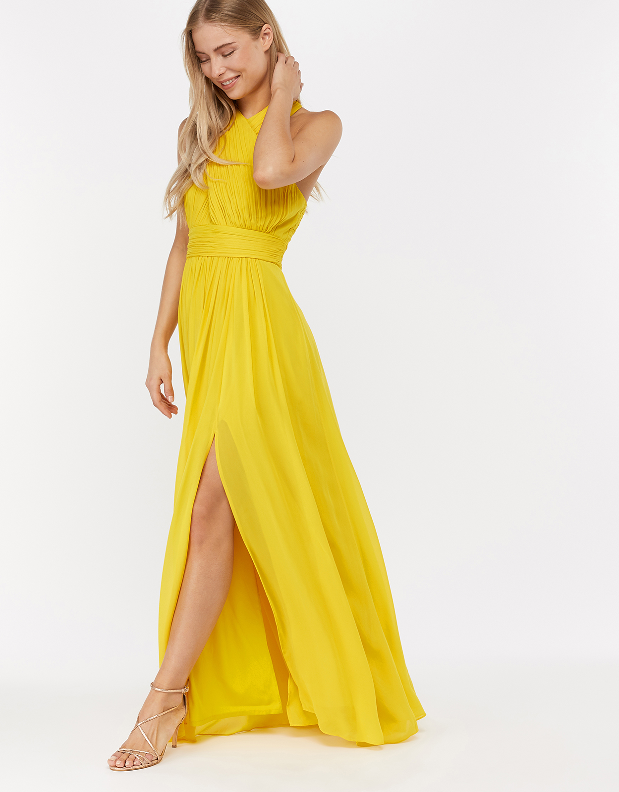 Monsoon Nena Twist Neck Maxi Dress