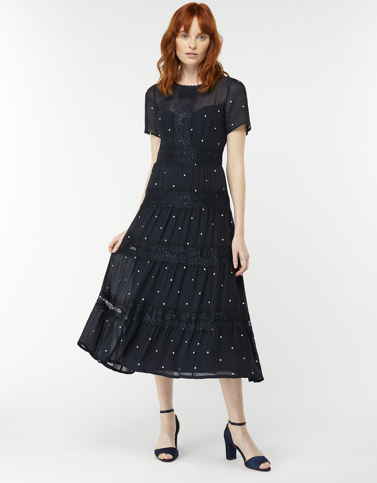 Monsoon Marley Spot Midi Dress