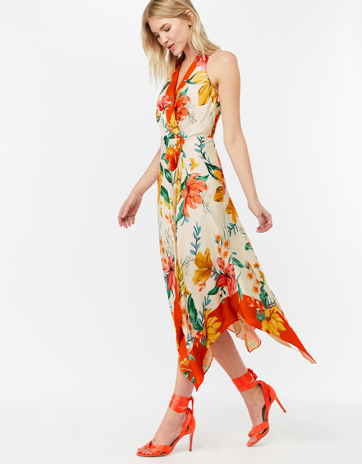 Monsoon Hazel Print Hanky Hem Dress