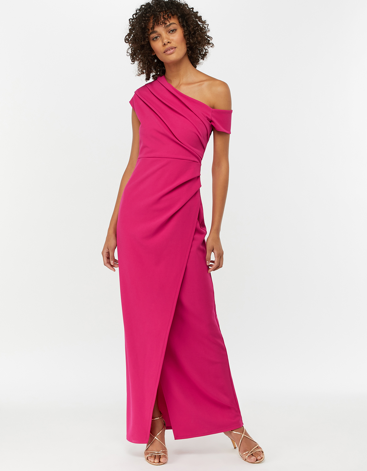 Monsoon Senorita Drape Detail Maxi Dress