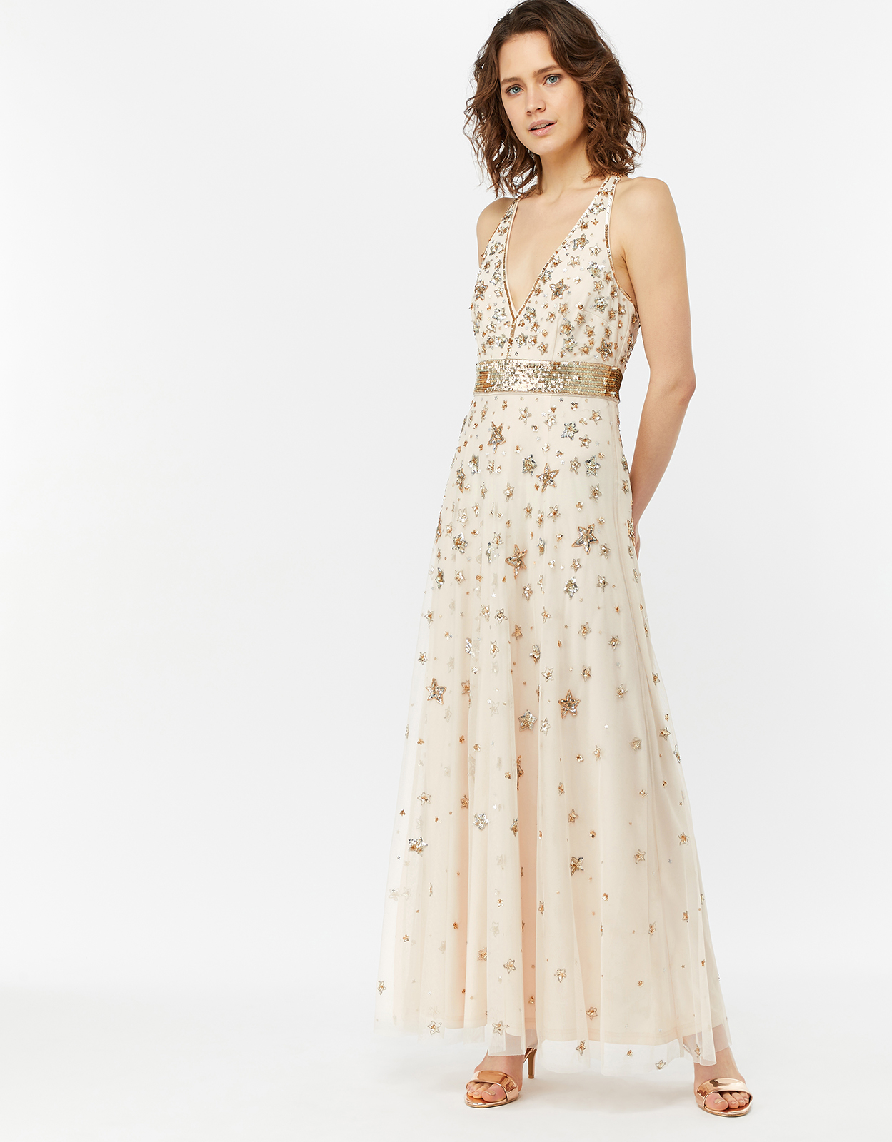 Monsoon Laura Star Embellished Maxi Dress