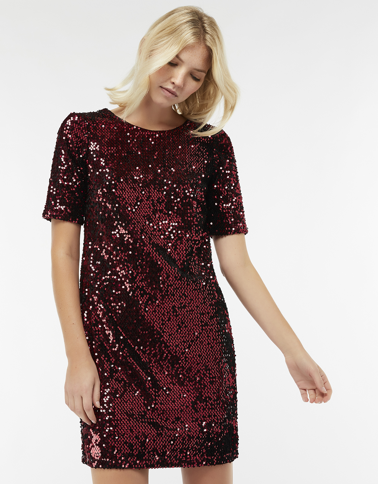 Monsoon Stacey Sequin Shift Dress