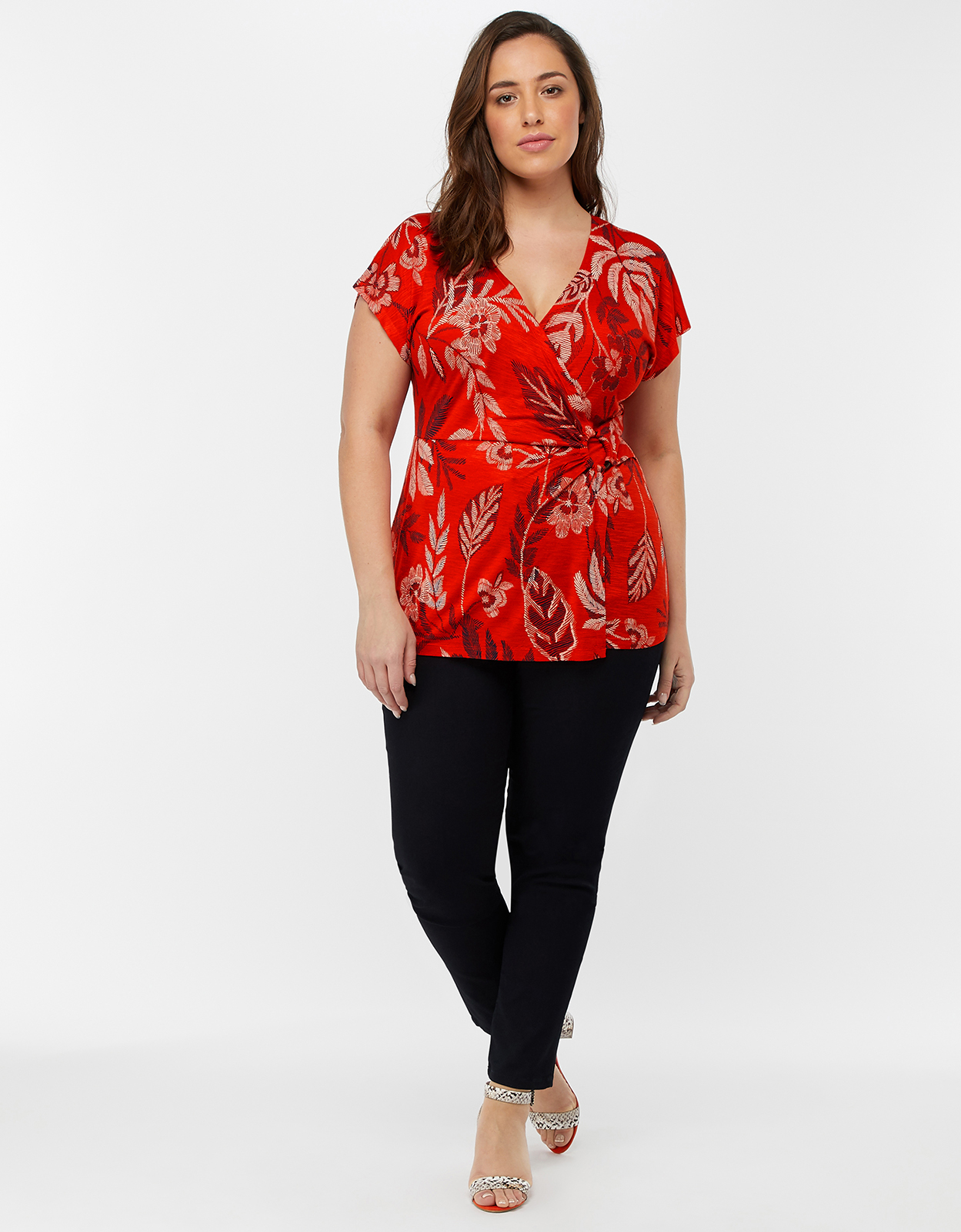 Monsoon Abril Jersey Print Top
