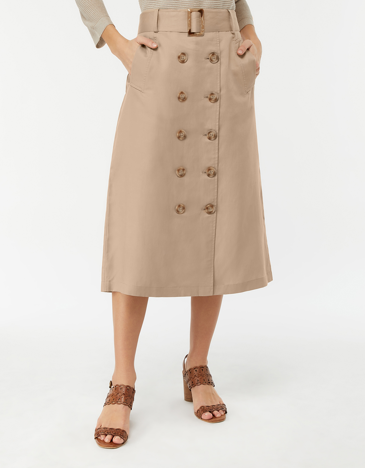Monsoon Lexi Linen Utility Skirt
