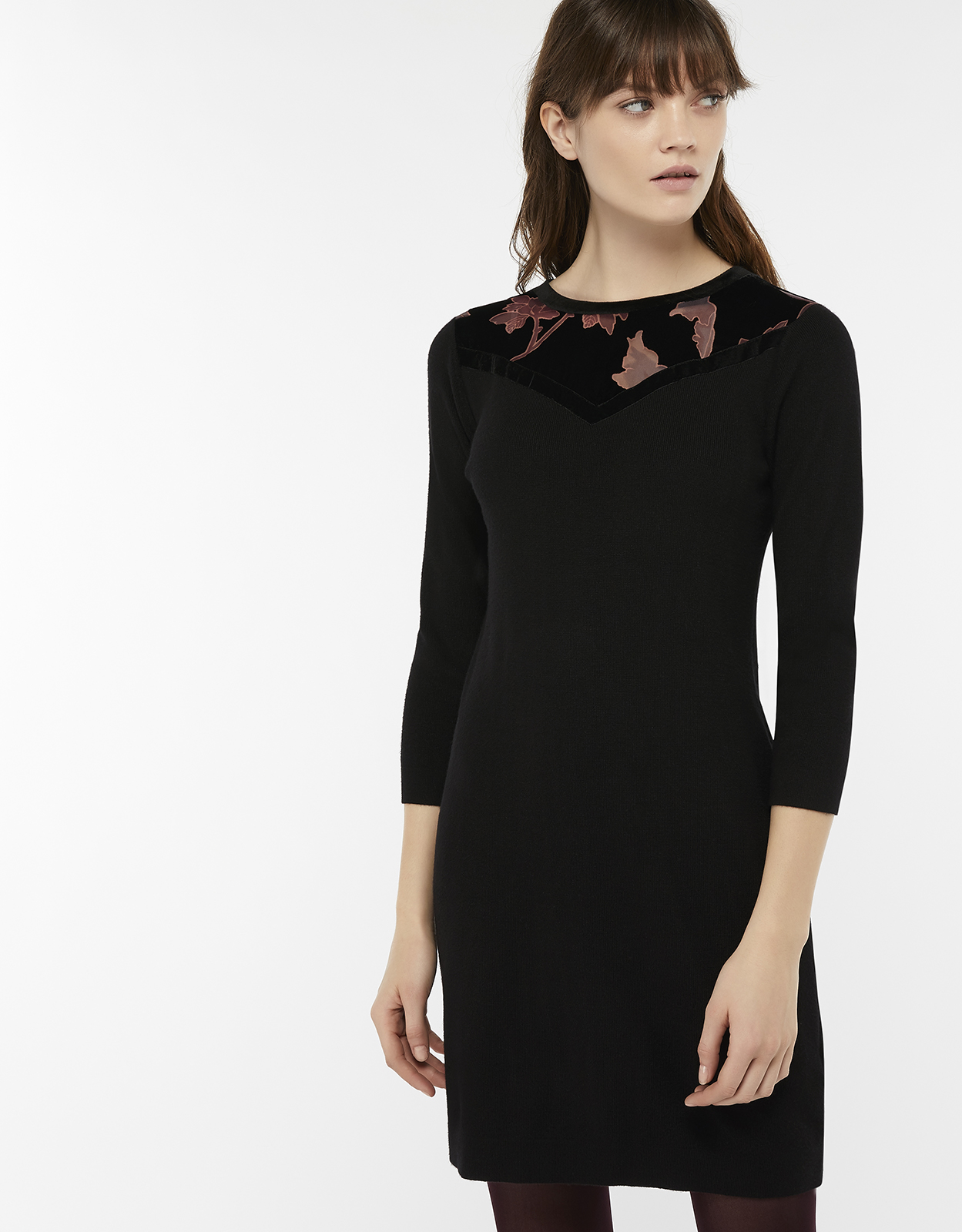 Monsoon Diana Devore Yoke Jumper Dress
