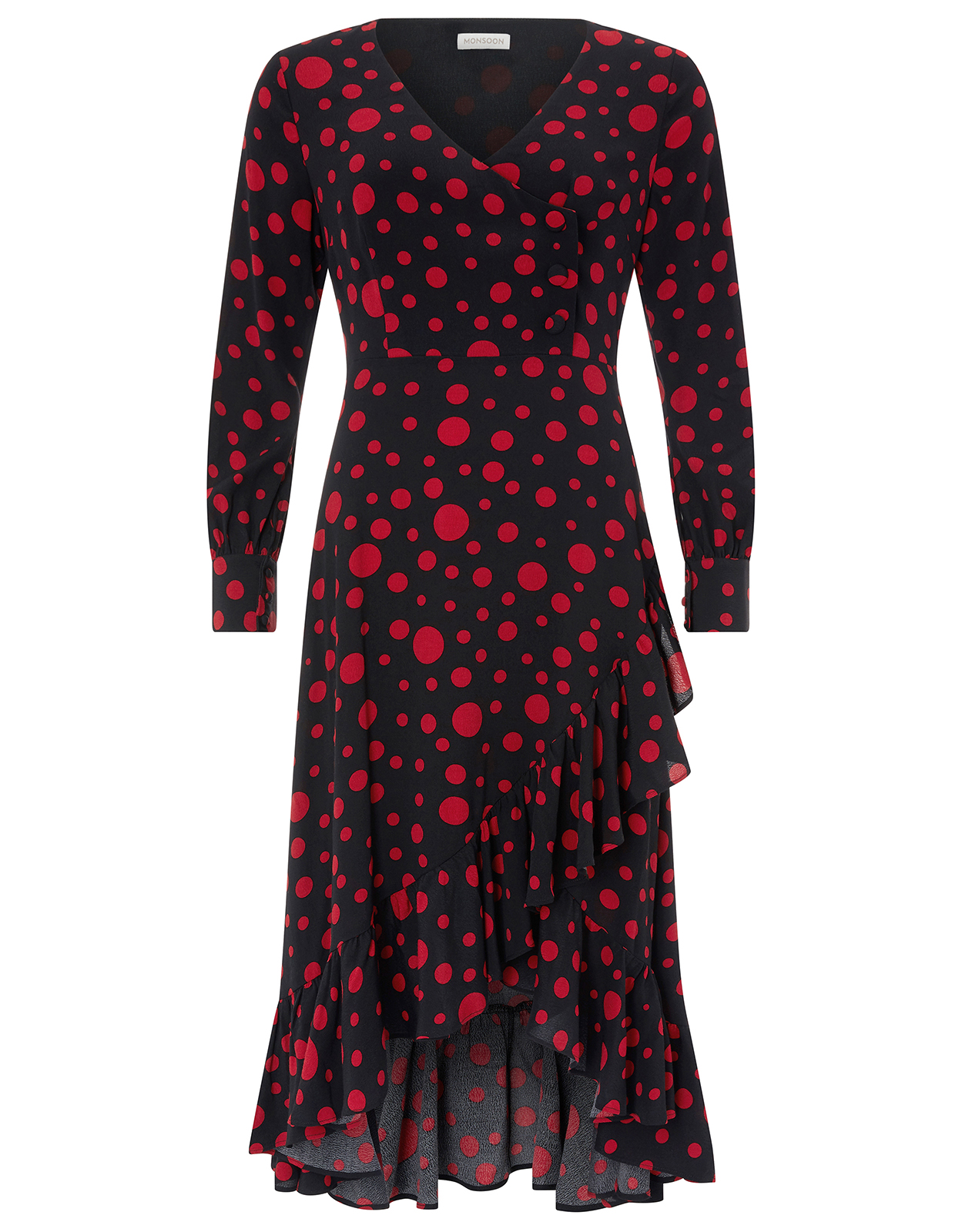 Monsoon Scarlett Spot Print Midi Dress
