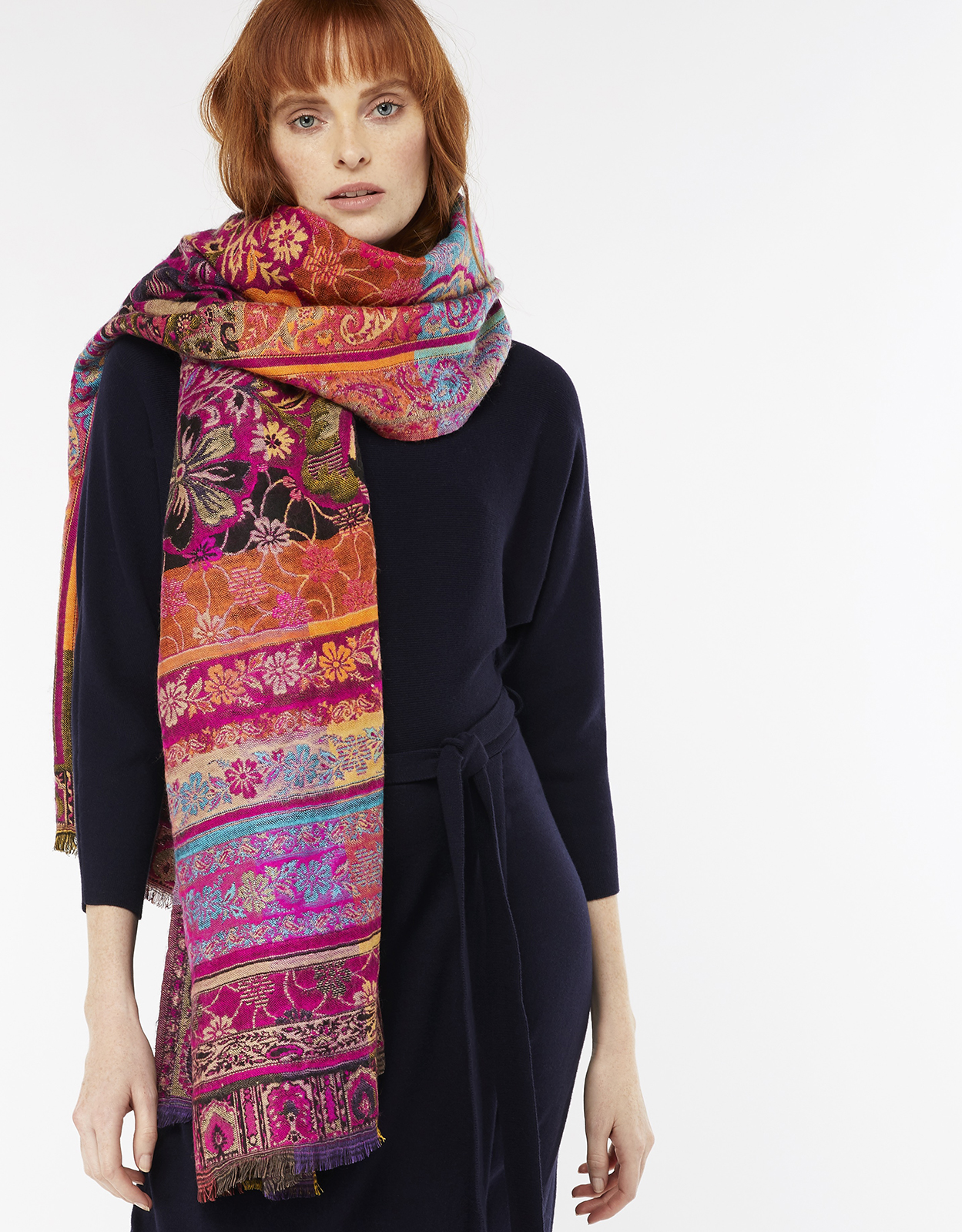 Monsoon Felicity Floral Jacquard Scarf