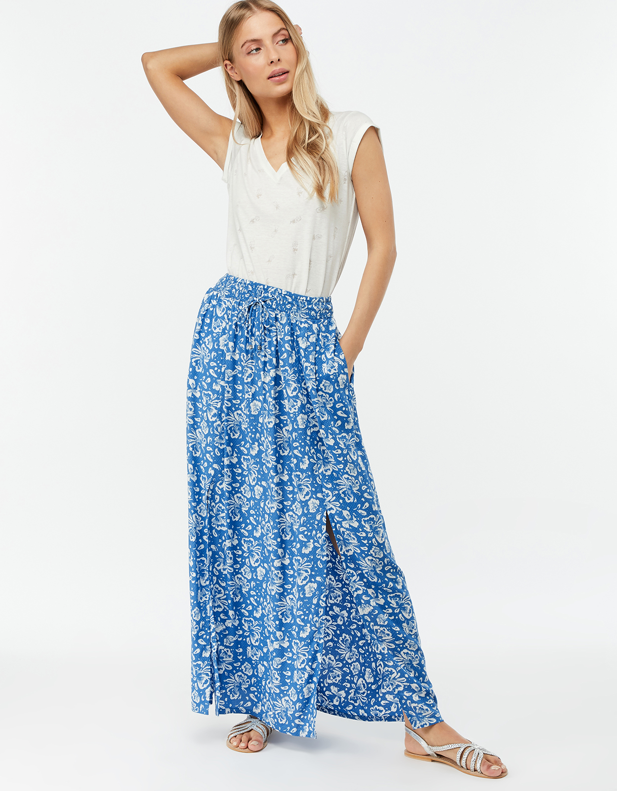 Monsoon Carmen Split Front Maxi Skirt