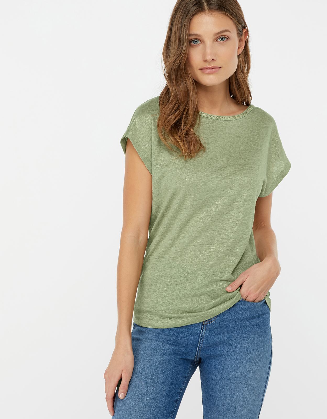 Monsoon Lily Linen T-Shirt