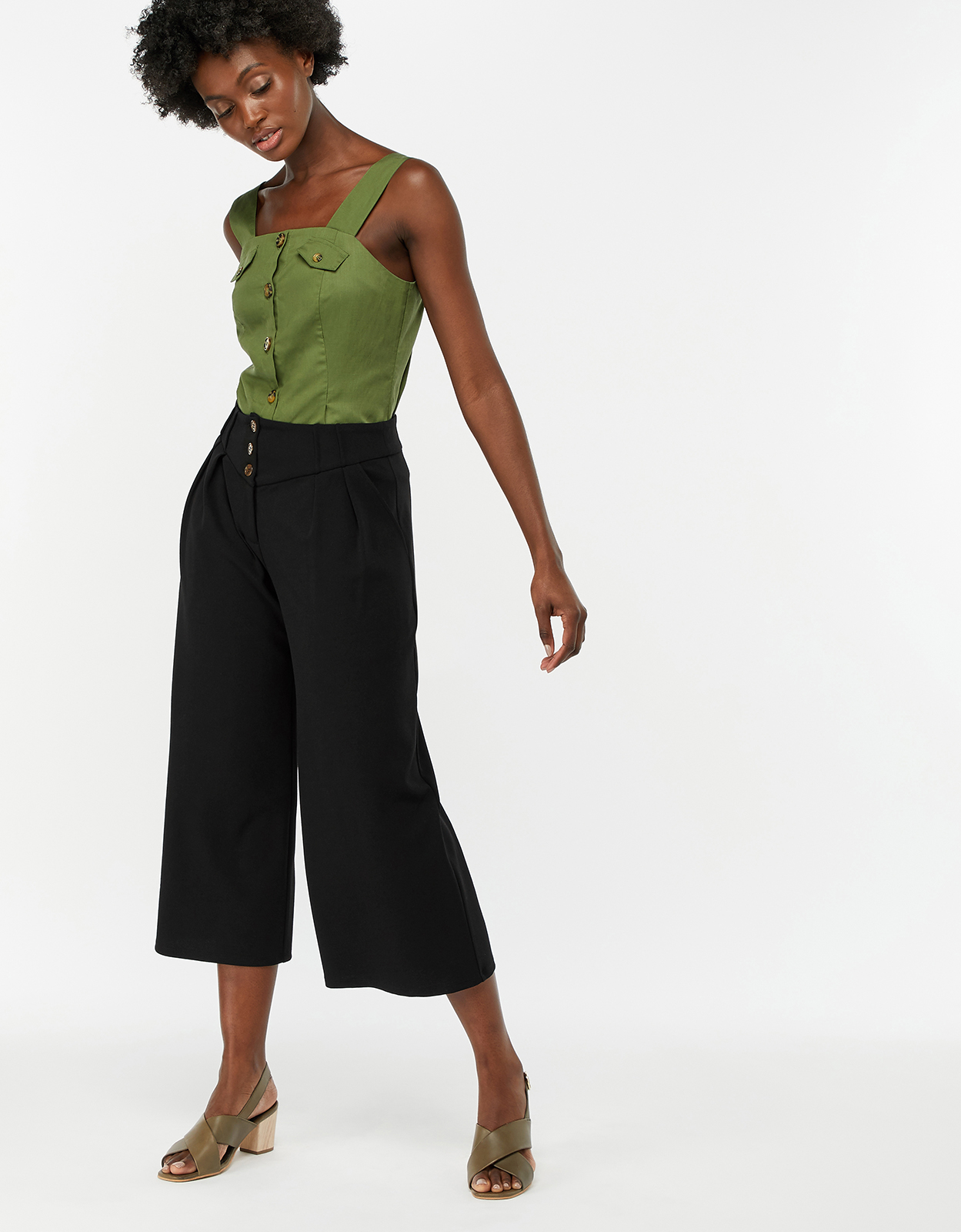 Monsoon Betsy Cropped Leg Culottes