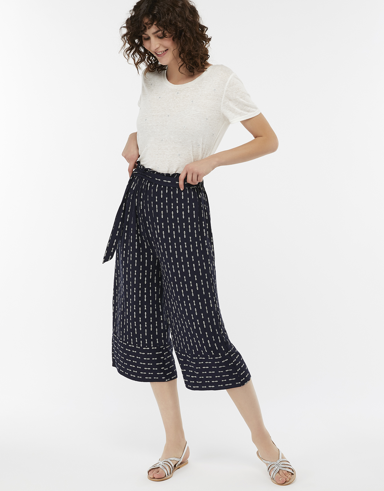 Monsoon Chrissy Jersey Culotte Trousers